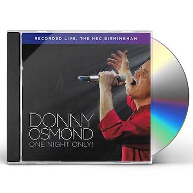 Donny Osmond ONE NIGHT ONLY! LIVE IN BIRMINGHAM CD