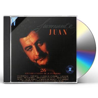 Juan Pardo SINCERAMENTE JUAN CD