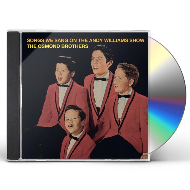 Osmond Brothers THE SONGS WE SANG ON THE ANDY WILLIAMS SHOW CD