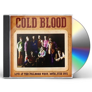Cold Blood LIVE AT THE FILLMORE WEST 30TH JUNE 1971 CD