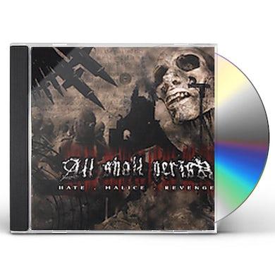All Shall Perish HATE MALICE REVENGE CD