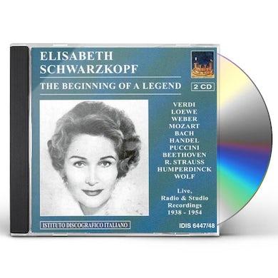 Elisabeth Schwarzkopf BEGINNING OF A LEGEND CD