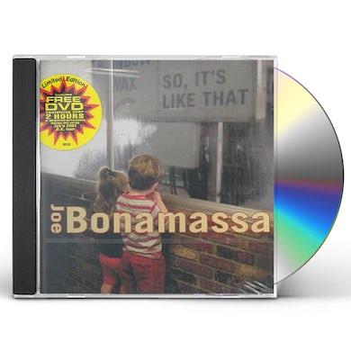 Joe Bonamassa SO IT'S LIKE THAT CD