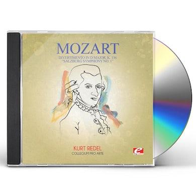 Wolfgang Amadeus Mozart DIVERTIMENTO IN D MAJOR K. 136 SALZBURG SYMPHONY 1 CD