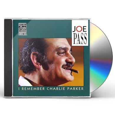 Joe Pass I REMEMBER CHARLIE PARKER CD