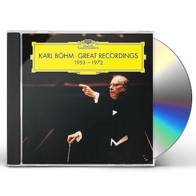 Karl Bohm GREAT RECORDINGS 1953-1972 CD