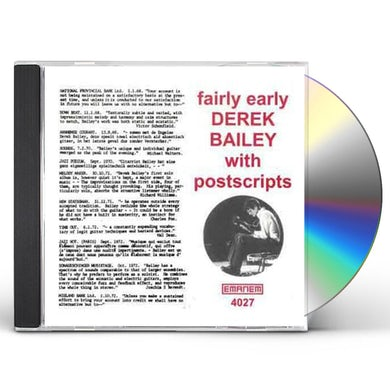 Derek Bailey FAIRLY EARLY WITH POSTSCRIPTS CD