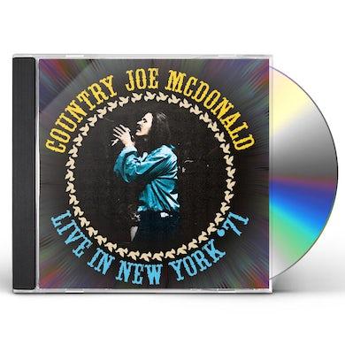 Country Joe McDonald LIVE IN NEW YORK '71 CD