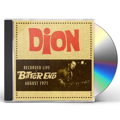 Dion LIVE AT THE BITTER END 1971 CD