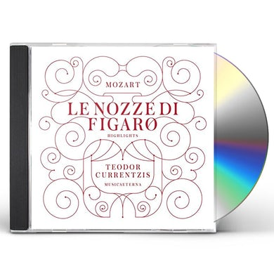 TEODOR CURRENTZIS MOZART: LE NOZZE DI FIGARO (HIGHLIGHTS) CD