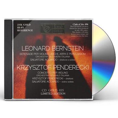 Leonard Bernstein KRZYSZTOF PENDERECKI (24 K GOLD) CD