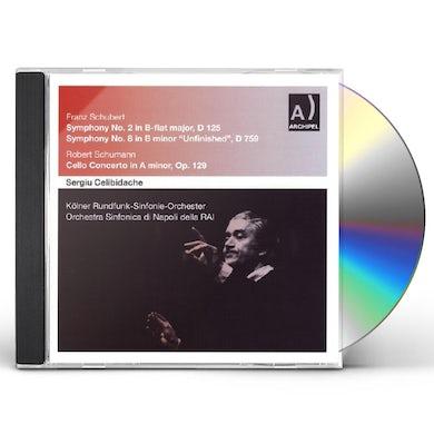 Schubert SINFONIEN 2 & 8 SCHUMANN CELL CD