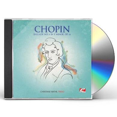 Chopin BALLADE 4 IN F MINOR CD