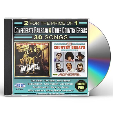 Confederate Railroad 30 SONGS CD