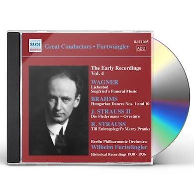 Wilhelm Furtwangler EARLY RECORDINGS VOL. 4 CD