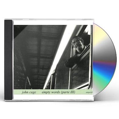 John Cage EMPTY WORDS 3 CD