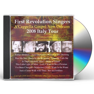 First Revolution Singers 2008 ITALY TOUR CD