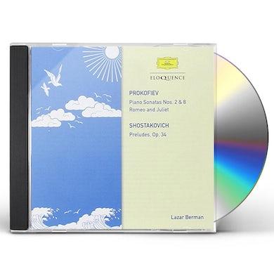Lazar Berman PROKOFIEV: SONATAS NOS. 2 & 8 CD