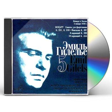 Wolfgang Amadeus Mozart GILELS EDITION 5 CD