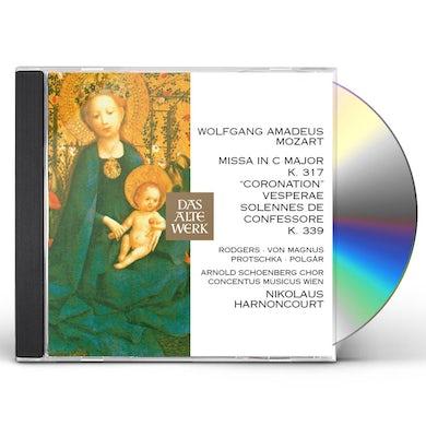 Nikolaus Harnoncourt MOZART: CORONATION MASS VESPERAE SOLENNES DE CONFE CD