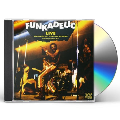 Funkadelic LIVE IN MEADOWBROOK ROCHESTER MICHIGAN CD