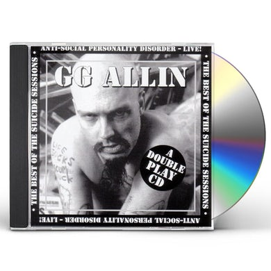 Gg Allin SUICIDE SESSIONS / ANTI-SOCIAL CD