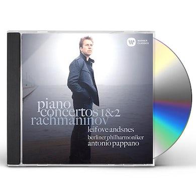 Leif Ove Andsnes RACHMANINOV: PIANO CONCERTO NOS. 1 & 2 CD