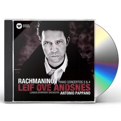 Leif Ove Andsnes RACHMANINOV: PIANO CONCERTOS NOS. 3 & 4 CD