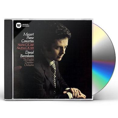Daniel Barenboim MOZART: PIANO CONCERTOS NOS. 8 & 25 CD