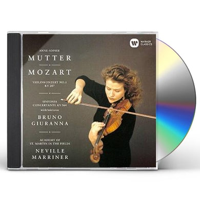 Anne-Sophie Mutter MOZART: VIOLIN CONCERTO NO. 1 SINFON CD