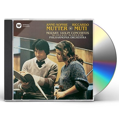 Anne-Sophie Mutter MOZART: VIOLIN CONCERTO NO. 2 & 4 CD