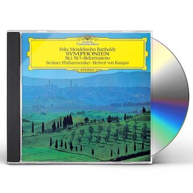 Herbert Von Karajan MENDELSSOHN: SYMPHONY NO.1 & NO.5 CD