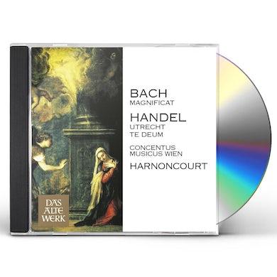 Nikolaus Harnoncourt BACH / HANDEL: MAGNIFICAT / UTRECHT TE DEUM CD