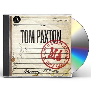 Tom Paxton LIVE AT MCCABE'S GUITAR SHOP CD