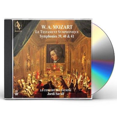 Jordi Savall Mozart: Symphonies No. 39, 40 & 41 CD