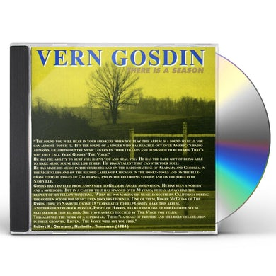 Vern Gosdin THERE IS A SEASON CD