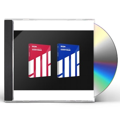 iKon NEW KIDS: CONTINUE (RED OR BLUE COVER) CD