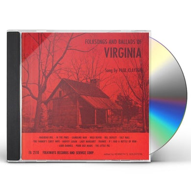 Paul Clayton FOLKSONGS AND BALLADS OF VIRGINIA CD