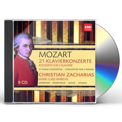 Christian Zacharias MOZART: 21 KLAVIERKONZERTEKONZERTE FUR 2 CD