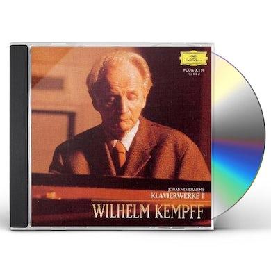 Wilhelm Kempff BRAHMS: KLAVIERWERKE VOL 1 CD