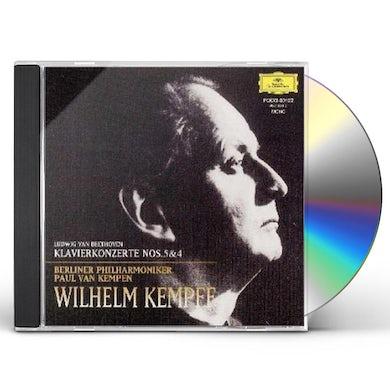 Wilhelm Kempff BEETHOVEN: KLAVIERKONZERTE #5 & 4 CD