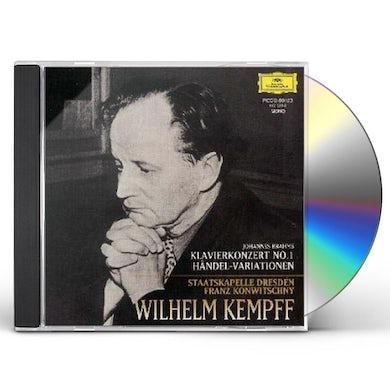 Wilhelm Kempff BRAHMS: KLAVIERKONZERT NO 1 / HAENDEL-VA CD