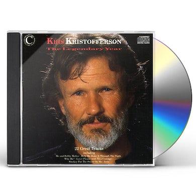 Kris Kristofferson LEGENDARY YEARS CD