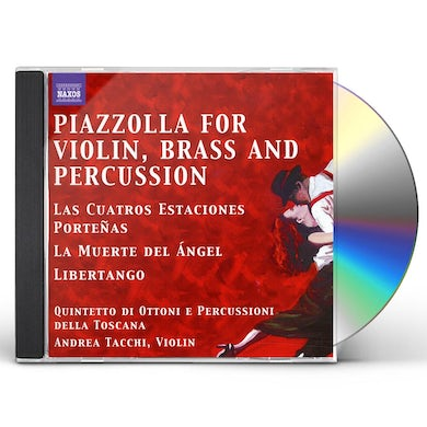 Astor Piazzolla TANGOS FOR VIOLIN BRASS & PERCUSSION QUINTET CD
