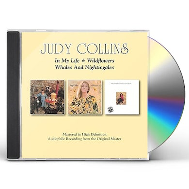 Judy Collins IN MY LIFE/WILDFLOWERS/WHALES & NIGHTINGALES CD