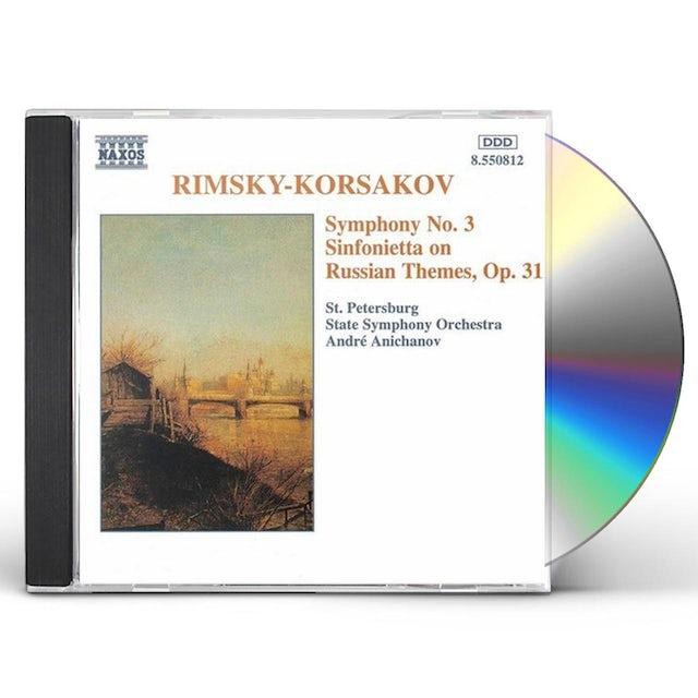 Rimsky-Korsakov SYMPHONY 3 & SINFONIETTA CD