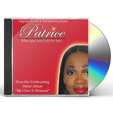 Patrice WHAT YOU WON'T DO FOR LOVE SINGLE CD