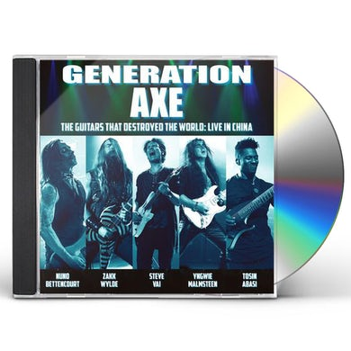 Steve Vai Generation Axe: Guitars That Destroyed That World- Live In China CD