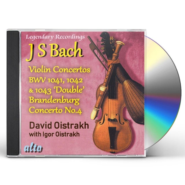 David Oistrakh BACH VIOLIN CONS 1 2 3 PLUS BRANDENBURG CON NO.4 CD