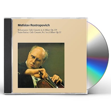 Mstislav Rostropovich SCHUMANN CELLO CONCERTO IN A MINOR OP.129 / SAINT CD